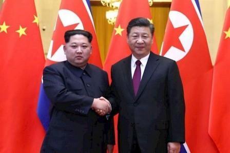 ຈີນສະໜັບສະໜູນການປະຊຸມຮອບ 2 ລະຫວ່າງ ທ່ານ ທຣຳ - ທ່ານ ກິມ ຈ໋ອງອຸນ - xi jinping  kim jong un hold talks  reaching important consensus - ຈີນສະໜັບສະໜູນການປະຊຸມຮອບ 2 ລະຫວ່າງ ທ່ານ ທຣຳ – ທ່ານ ກິມ ຈ໋ອງອຸນ