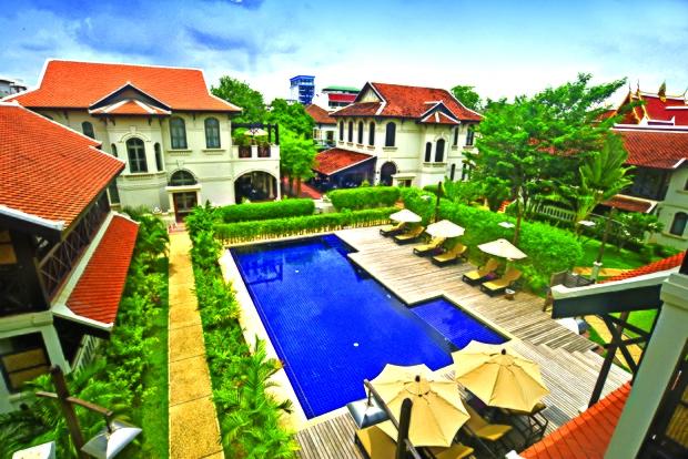 ansara hotel ໄດ້ຮັບລາງວັນອອກແບບທສວຍງາມໃນປີ 2019 - Ansara Hotel pool copy - Ansara Hotel ໄດ້ຮັບລາງວັນອອກແບບທສວຍງາມໃນປີ 2019