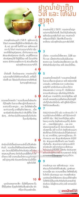 ຢາດນຳ້ຢ່າງຖືກວິທີ ແລະ ໃຫ້ຜົນສູງສຸດ - Turquoise Icons Process Infographic 2 - ຢາດນຳ້ຢ່າງຖືກວິທີ ແລະ ໃຫ້ຜົນສູງສຸດ