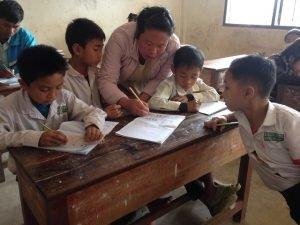 ສຶກສາແຂວງສະຫວັນນະເຂດ ສະເໜີໃຫ້ມີການແກ້ໄຂສະພາບຄູອາສາໃຫ້ໄດ້ເຂົ້າເປັນລັດຖະກອນ - teacher vanhueng thammavong in laos 300x225 - ສຶກສາແຂວງສະຫວັນນະເຂດ ສະເໜີໃຫ້ມີການແກ້ໄຂສະພາບຄູອາສາໃຫ້ໄດ້ເຂົ້າເປັນລັດຖະກອນ