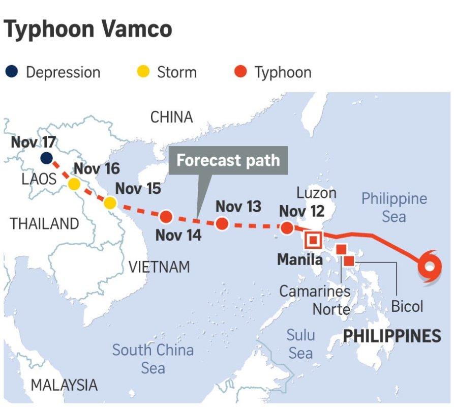 ກົມອຸຕຸແຈ້ງເຕືອນພາກກາງ-ພາກເໜືອ ກຽມຮັບມືພາຍຸໝຸນເຂດຮ້ອນວາມກໍ 14-17 ພະຈິກນີ້ - online 201012 typhoonvamco - ກົມອຸຕຸແຈ້ງເຕືອນພາກກາງ-ພາກເໜືອ ກຽມຮັບມືພາຍຸໝຸນເຂດຮ້ອນວາມກໍ 14-17 ພະຈິກນີ້