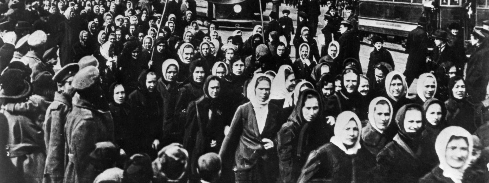 ວັນແມ່ຍິງສາກົນ ຄົບຮອບ 111 ປີ home - medium blog - 1917 International Womens Day   Petrograd 1600x600 - Home – Medium Blog