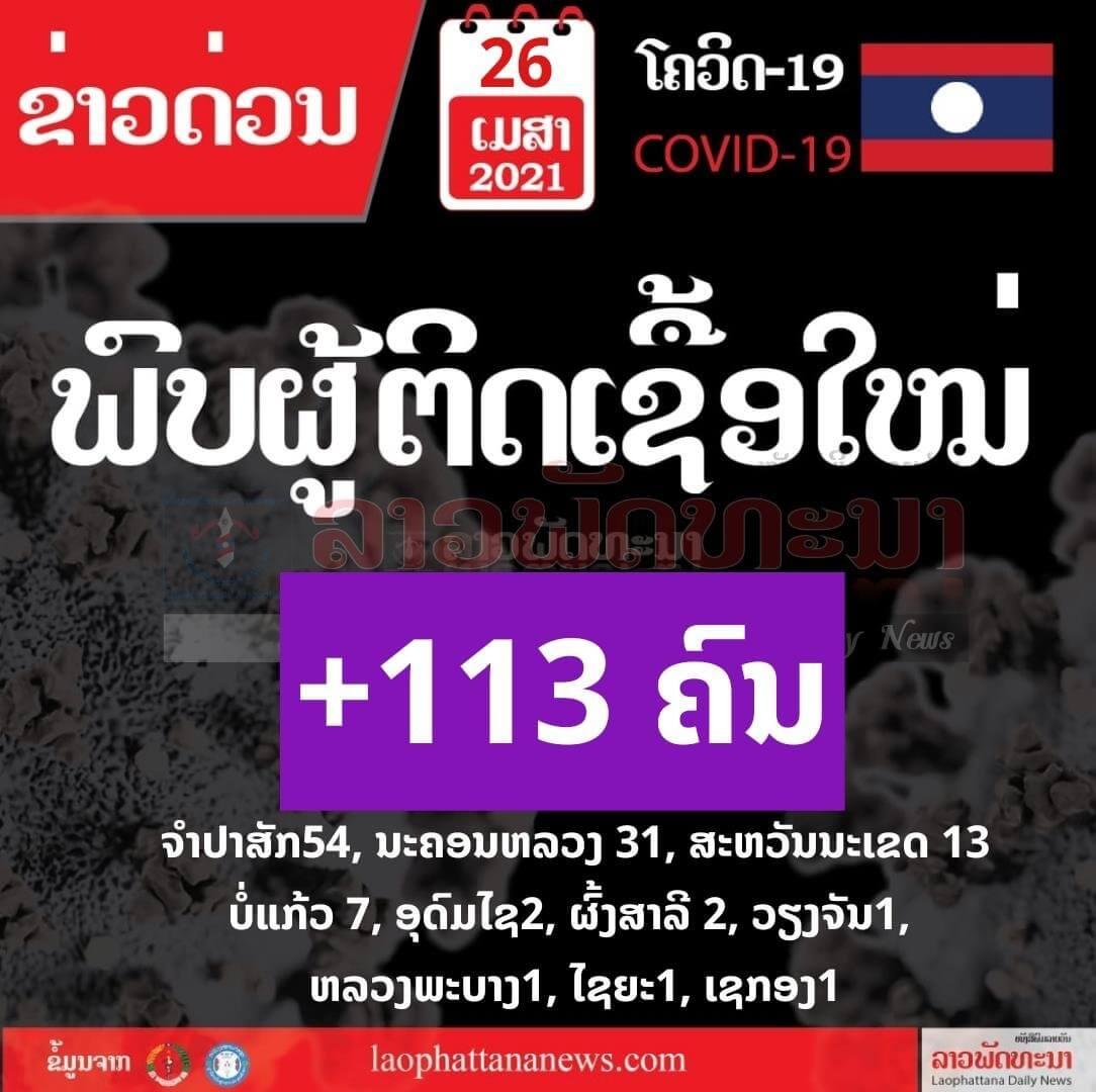 ຢູ່ປະເທດເຮົາ ພົບຜູ້ຕິດເຊື້ອໂຄວິດ-19 ເພີ່ມຂຶ້ນ 113 ຄົນ - WhatsApp Image 2021 04 26 at 3 - ຢູ່ປະເທດເຮົາ ພົບຜູ້ຕິດເຊື້ອໂຄວິດ-19 ເພີ່ມຂຶ້ນ 113 ຄົນ