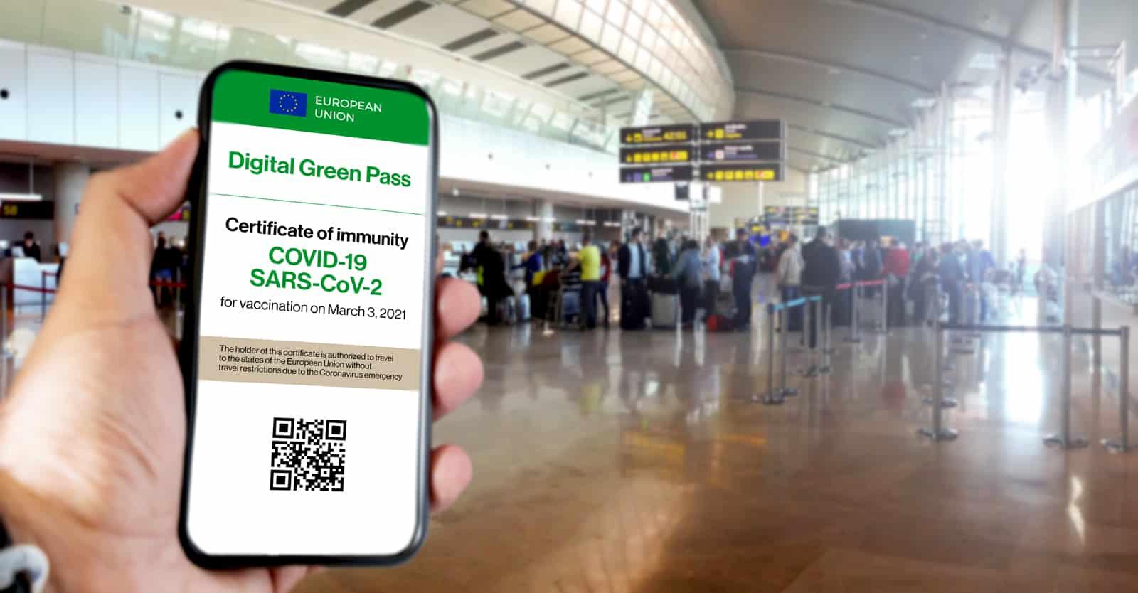 ໃບຮັບຮອງສັກວັກຊິນ ເປັນເຄື່ອງມີການເດີນທາງແບບໃໝ່ທົ່ວໂລກ - EU vote Green Pass feature - ໃບຮັບຮອງສັກວັກຊິນ ເປັນເຄື່ອງມີການເດີນທາງແບບໃໝ່ທົ່ວໂລກ