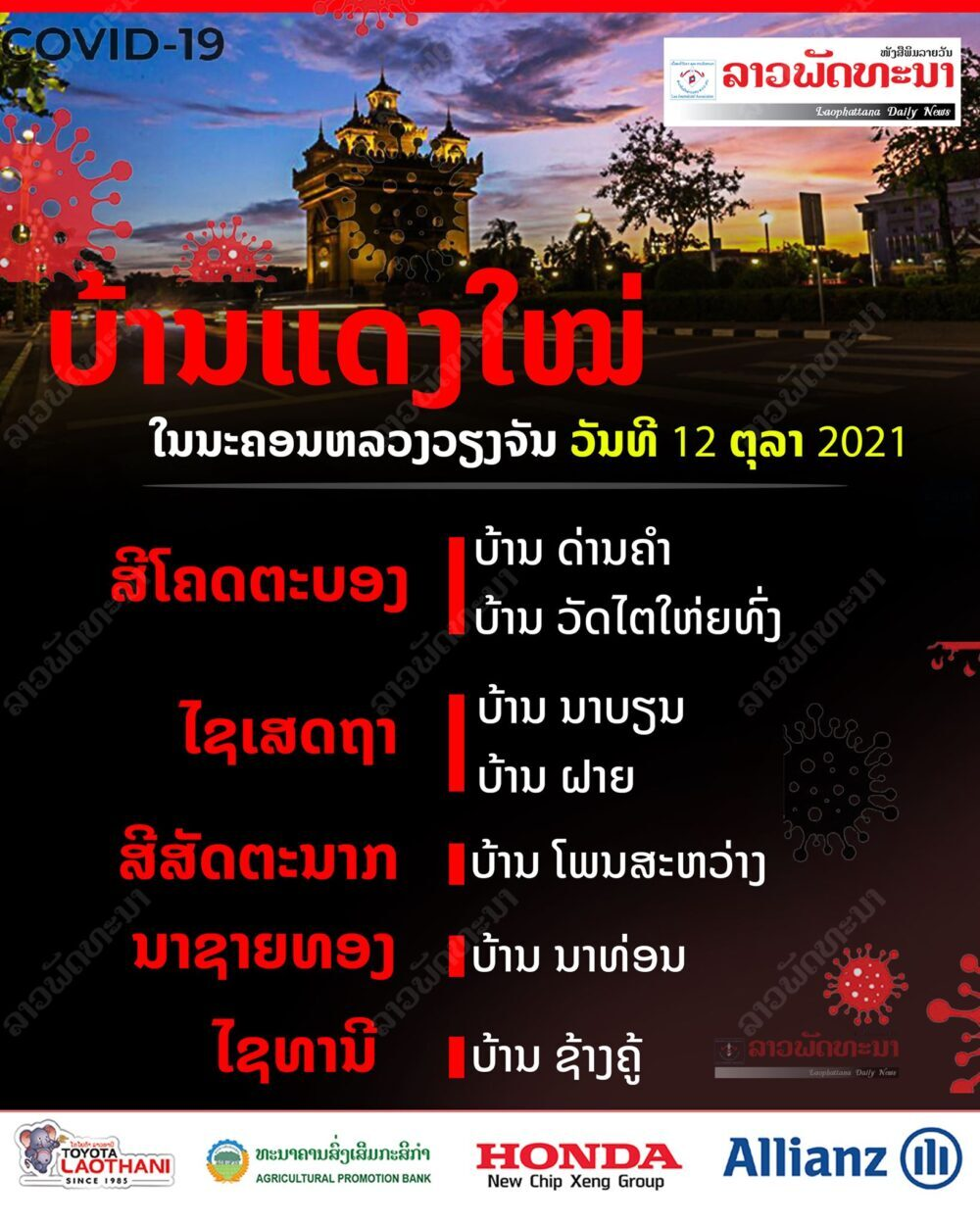 ບ້ານແດງໃໝ່ທີ່ຖືກກຳນົດຂຶ້ນຢູ່ນະຄອນຫລວງວຽງຈັນ ວັນທີ 12 ຕຸລາ 2021